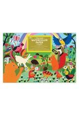 Eeboo Woodland Rainbow Watercolor Paper by eeBoo