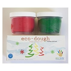 Eco-Kids Eco-Dough Holiday Gift Pack (Red & Green) by Eco-Kids