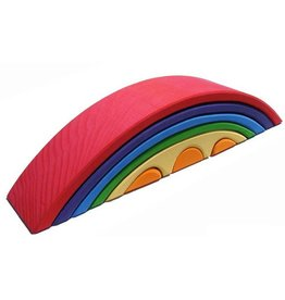 Gluckskafer Wooden Rainbow Bridge set (8 piece) by Gluckskafer