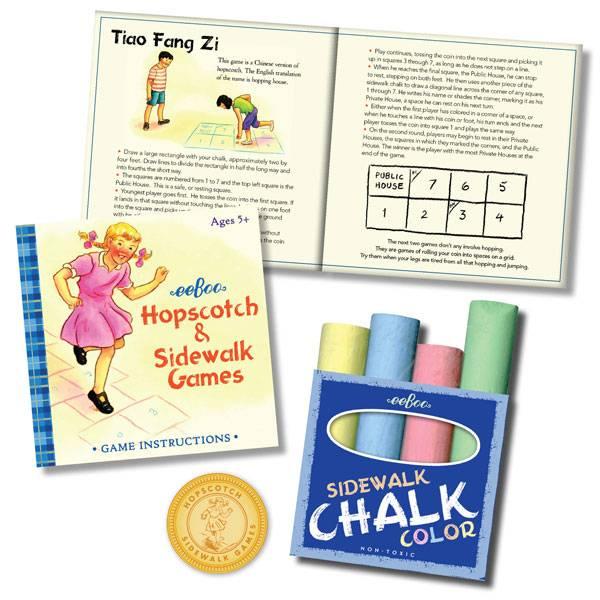 Eeboo Sidewalk Chalk Games by Eeboo