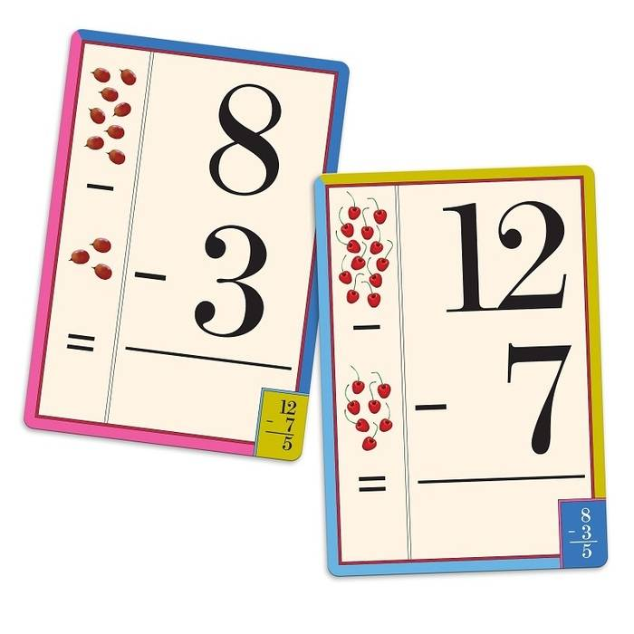 Image result for subtraction cards