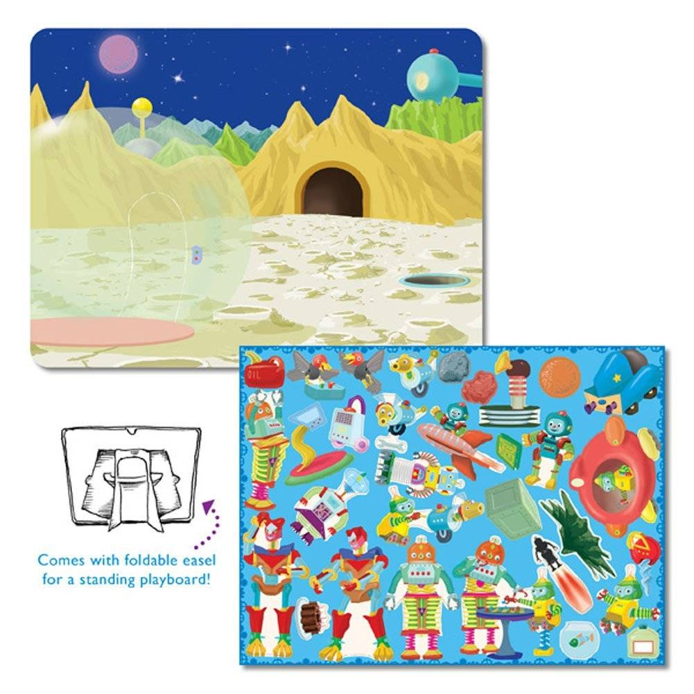 Eeboo Make Me a Story Magnetic Playboard - Robot's Landing