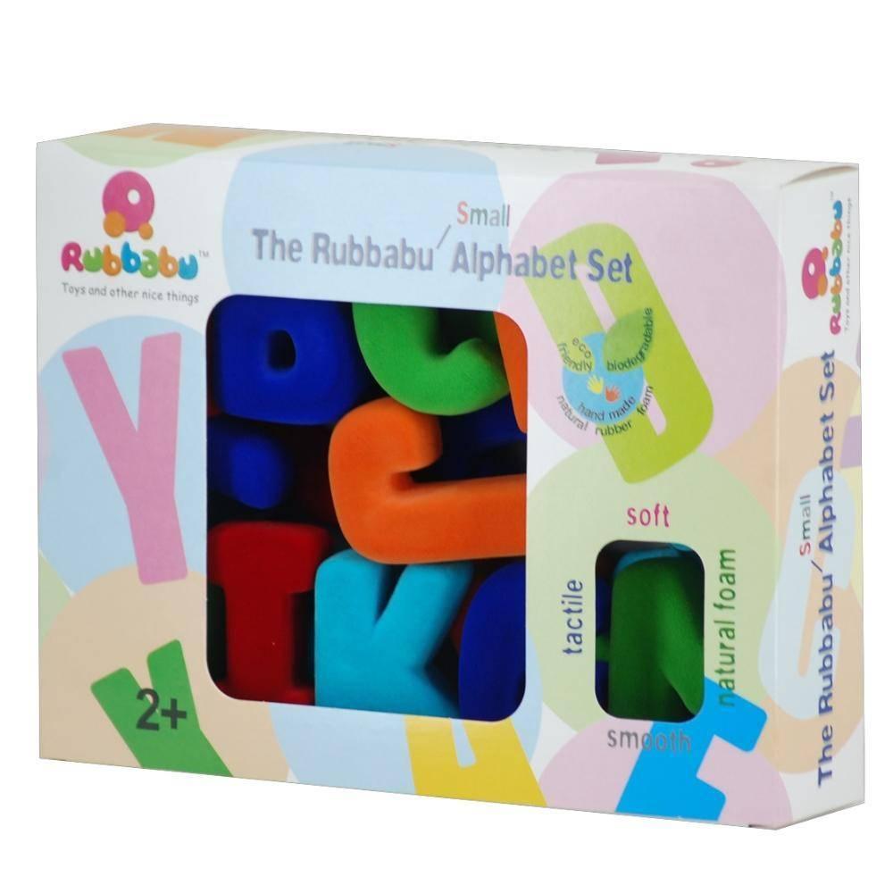 Rubbubu Natural Rubber Alphabet or Number Magnetic Sets