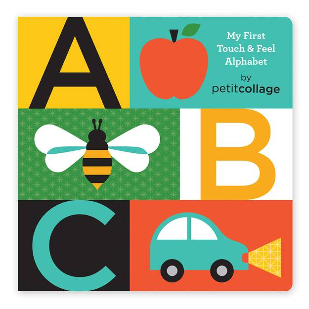 Petit Collage ABC My First Touch & Feel Alphabet Board Book by Petit Collage