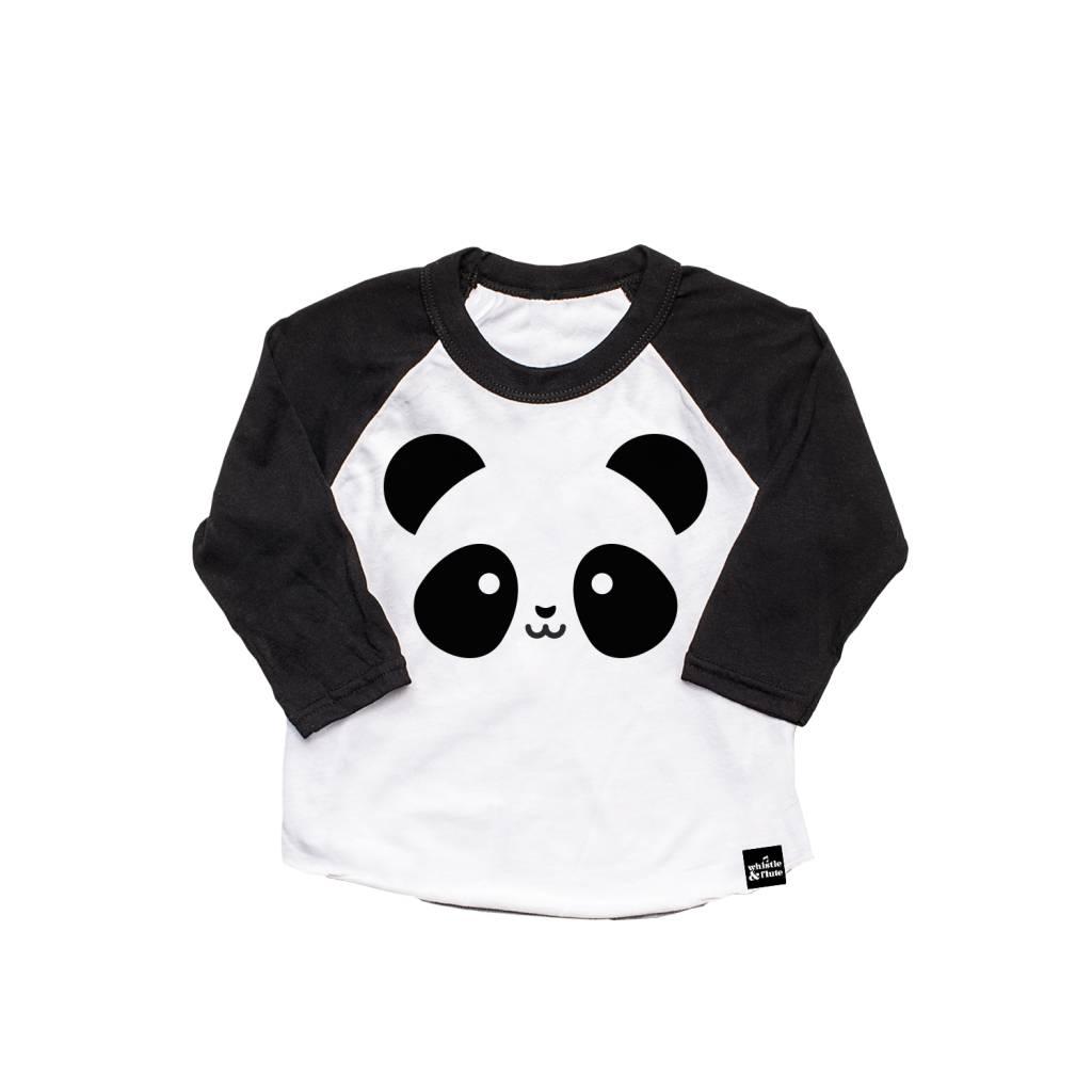 Whistle & Flute Kawaii Panda Baseball Raglan Shirt by Whistle & Flute