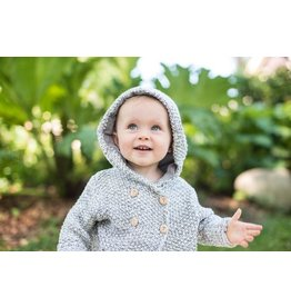 Beba Bean Crochet Knit Hoodie by Beba Bean