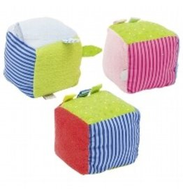 Goki Soft Cube with Rattle