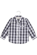 WHEAT KIDS Button Up Shirt Ellias Style, Greyblue Colour by Wheat Clothing