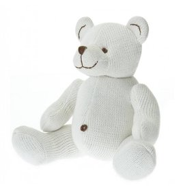 Beba Bean Large Knit Stuffed Animal in Ivory