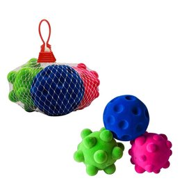 Rubbubu 3 Small Stress Balls in Net by Rubbabu