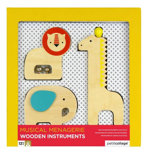 Petit Collage Musical Menagerie Wooden Animal Instruments by Petit Collage