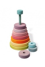 Grimms Wooden Pastel Conical Stacking Tower by Grimms