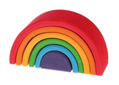 Grimms Wooden Rainbow Stacking Toy by Grimms