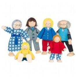 Goki City Family Flexible Dollhouse People by Goki