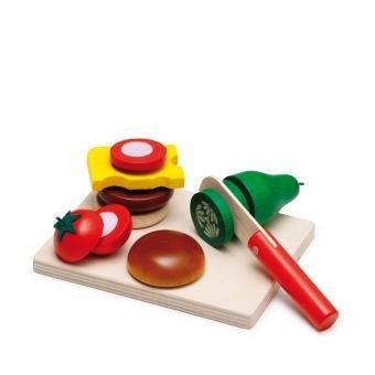 Erzi Wooden Toy Cutting Food Set ~