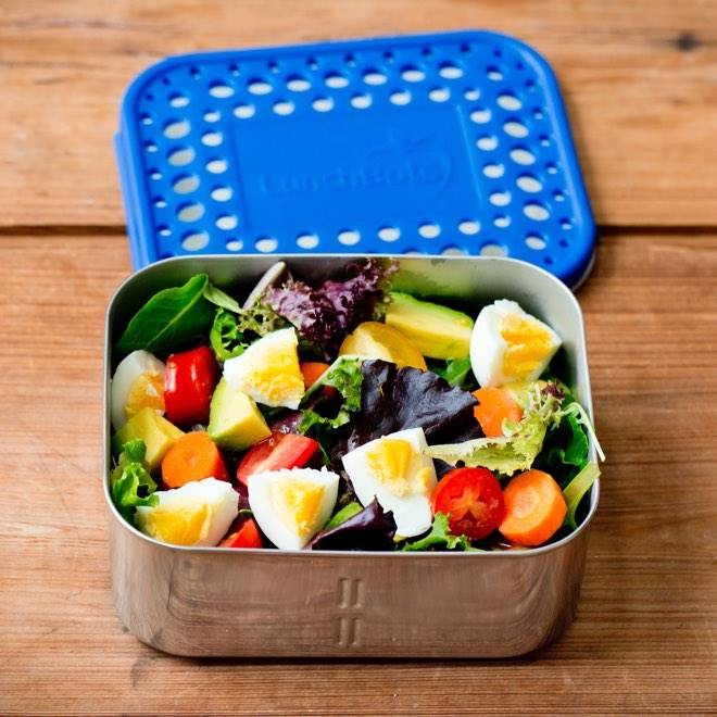 Lunchbots Deep Duo Two Section Stainless Steel Bento Box by Lunchbots