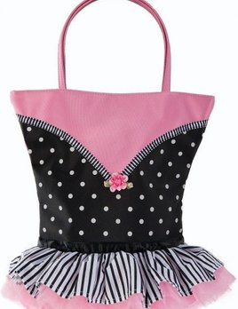 Sassi Designs Sassi Designs Tutu Cute Dots and Stripes Tote NOR-08