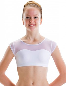 Motionwear Sweetheart Cap Sleeve Crop Top by Motionwear Style 3773