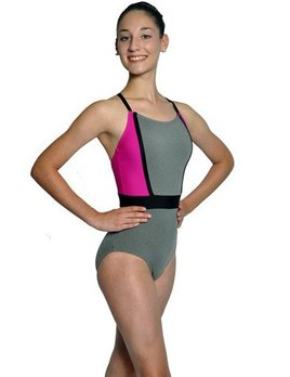 BP Designs BP Designs Banded Waist Eclon Gray Leotard 73118