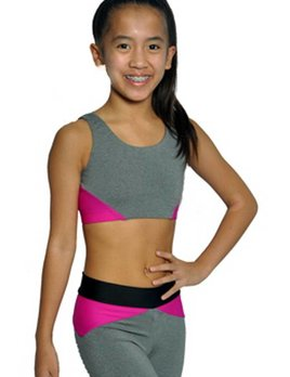 BP Designs BP Designs Eclon Gray Three Strap Crop 74321