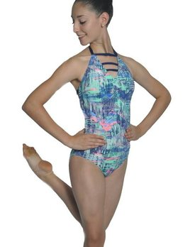 BP Designs BP Designs Vertical Edge Three Strap Halter Leotard Adult 73117