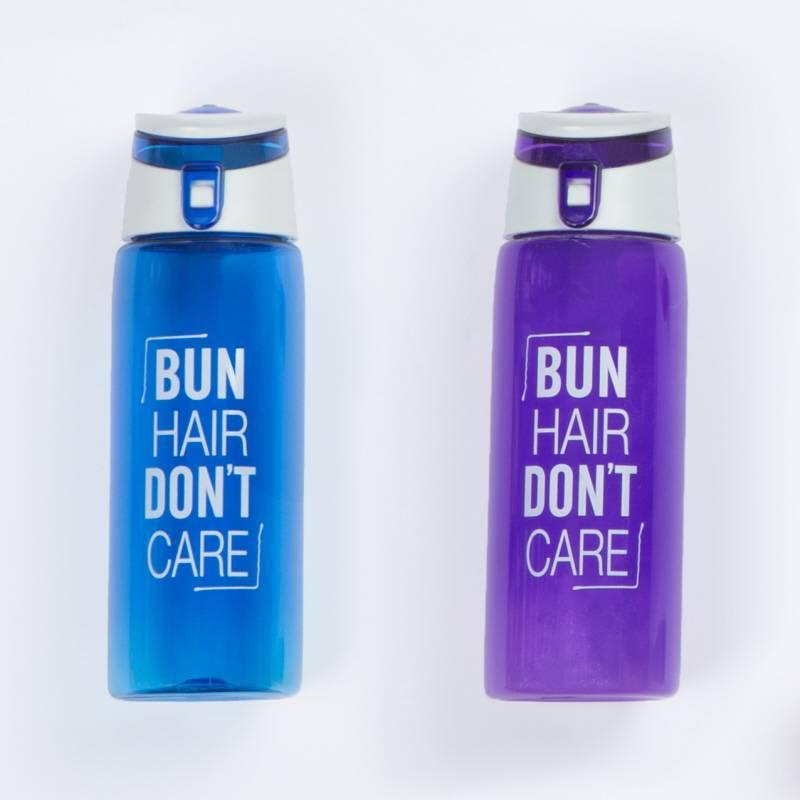 Water Bottle Hair: Bun Hair Don't Care Water Bottle