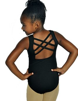 BP Designs BP Designs Youth Double Cross Back Tank Leotard 73114