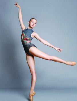 Ballet Rosa Ballet Rosa Romane Floral Netted Tank Leotard