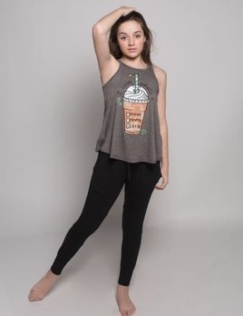 Sugar and Bruno Sugar and Bruno Dance A Latte Youth One Size Tank D8023