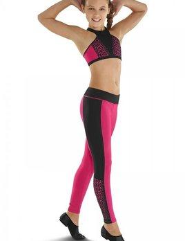 Leos Dancewear LEOS LASER CUT PANEL FULL LEGGINGS LC185P