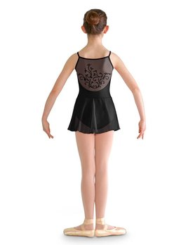 Bloch Bloch Vine Flock Skirted Cami Leo CL8257