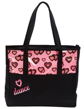 Dasha Designs Dasha Designs Glittery Hearts Dance Tote 4942
