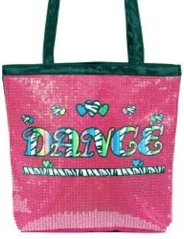 Dasha Designs Dasha Designs Neon Zebra Tote Blue 4940