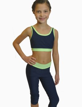 BP Designs BP Two Tone Mesh Back Bra for Girls - CO
