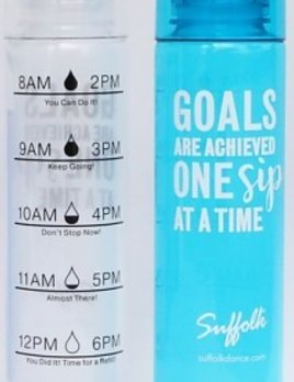 Suffolk Pointe Suffolk Pointe Goals Water Bottle Clear 1543