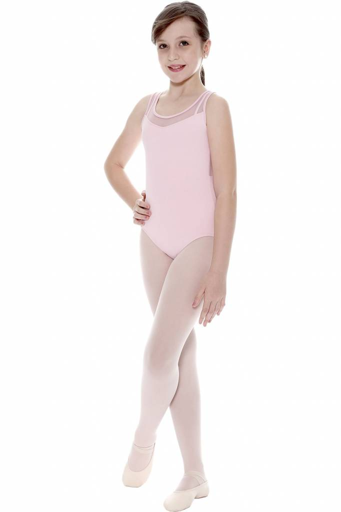 So Danca Mesh Front Keyhole Back Leotard L-1121