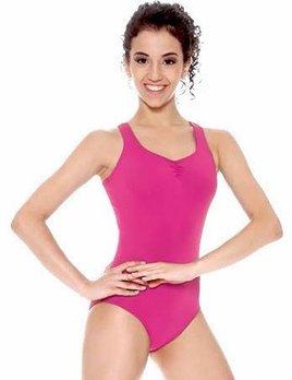 efcc8bed401f cross back leotard - Black and Pink Dance Supplies