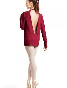 Bloch Bloch Chevron Knitted Open Back Sweater Z6989