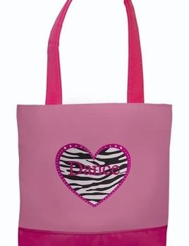Sassi Designs Sassi Designs Zebra Heart Dance Tote ZHD-03