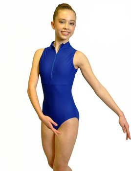 BP Designs BP Designs Zip Front Solid Back Leotard Youth 83125