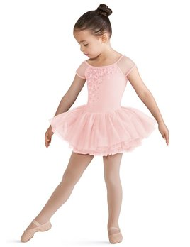 Bloch Bloch Printed Bodice Cap Sleeve Tutu Leotard CL8172