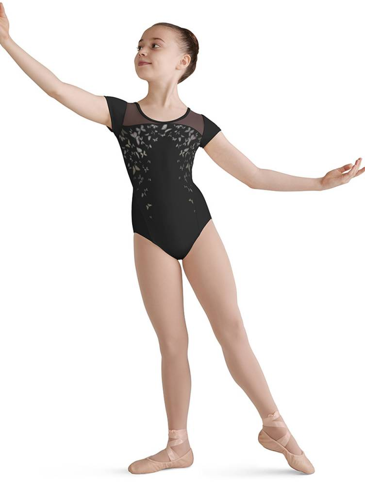 Bloch Bloch Printed Bodice Cross Back Leotard CL8182