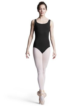 Bloch Bloch Geometric Flower Mesh Tank Leotard L8885