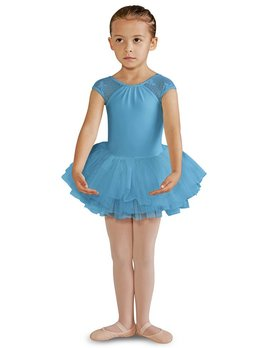 Bloch Bloch Bow Mesh Cap Sleeve Tutu Leotard CL8212