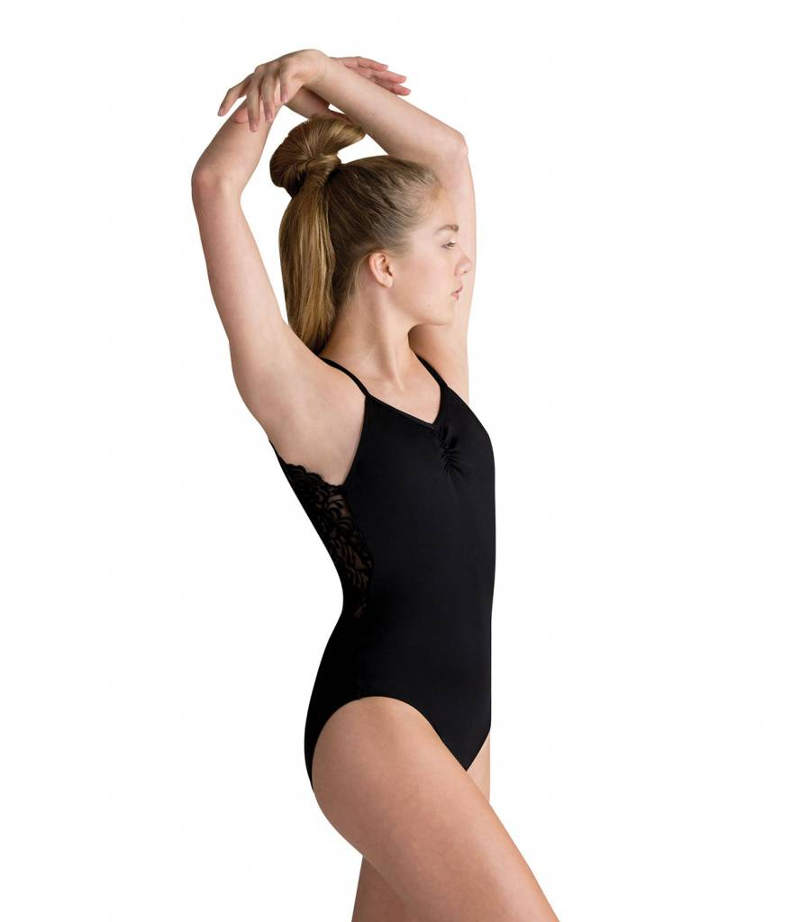 Motionwear Pinch Front Scallop Lace Leotard Style 4350