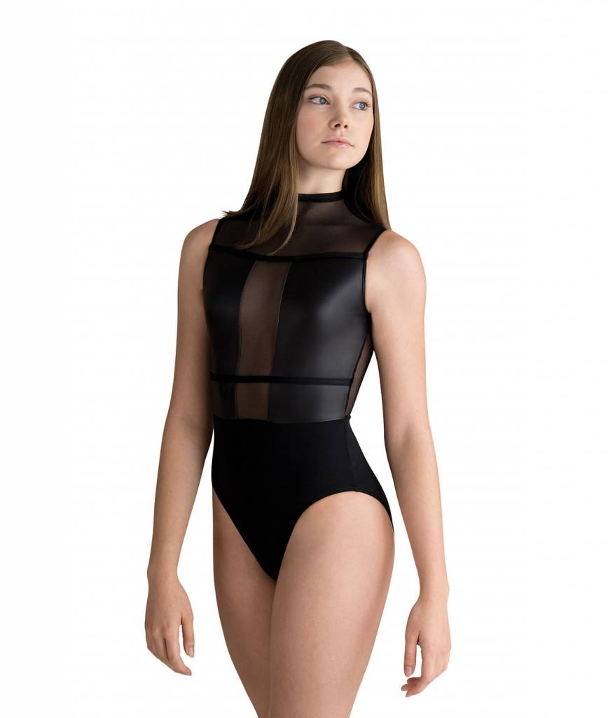 Motionwear High Neck Mesh Inset Leo Style 2221