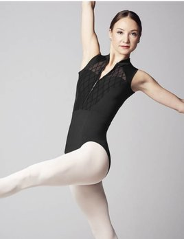 Bloch Bloch Zip Front mesh Panel Leotard L9915