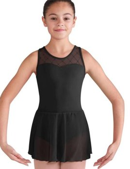 Bloch Bloch Sweetheart Mesh Cross Back Skirted Leotard CL9575