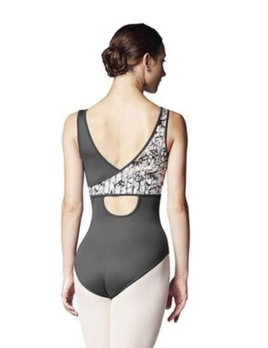 Bloch Bloch Lilly Stripe Asymmetric Keyhole Back Tank Leotard L9975