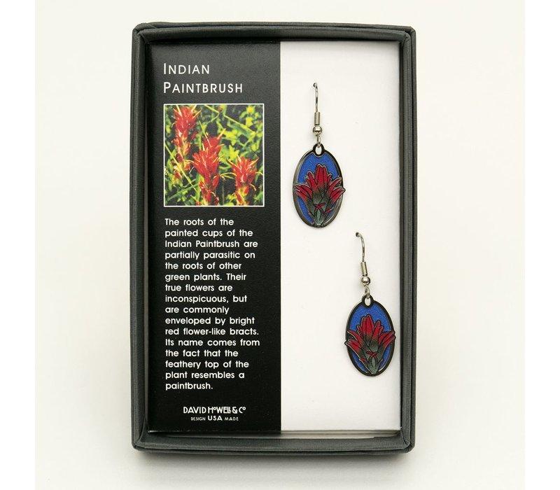 Indian Paintbrush Earrings